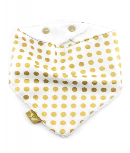 Gold-Spots-bandana-dribble-bib-adjustable-terry-cotton-designer