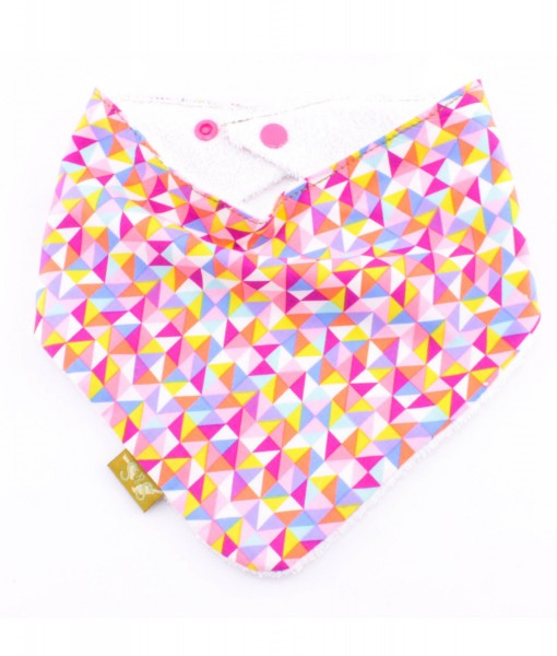 Sherbert-bandana-dribble-bib-adjustable-terry-cotton-designer