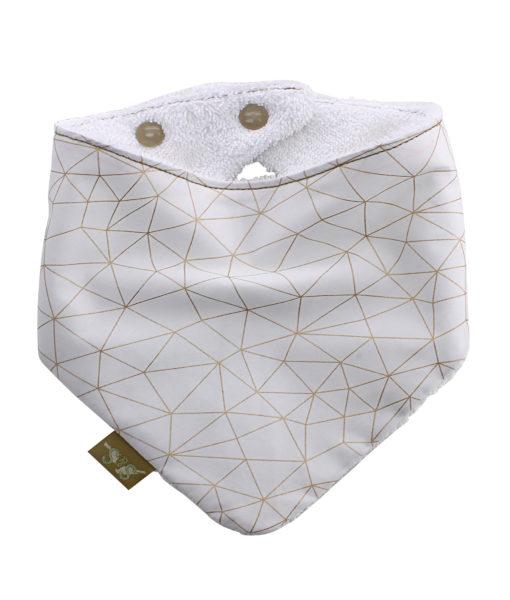 Gold-Cracks-bandana-dribble-bib-adjustable-terry- cotton-designer